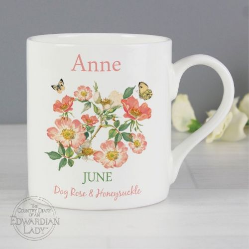 Country Diary 'June Flower Of The Month' Balmoral Mug
